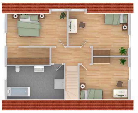 landhaus celle im kfw 70 standard schl sselfertig ab 199. Black Bedroom Furniture Sets. Home Design Ideas