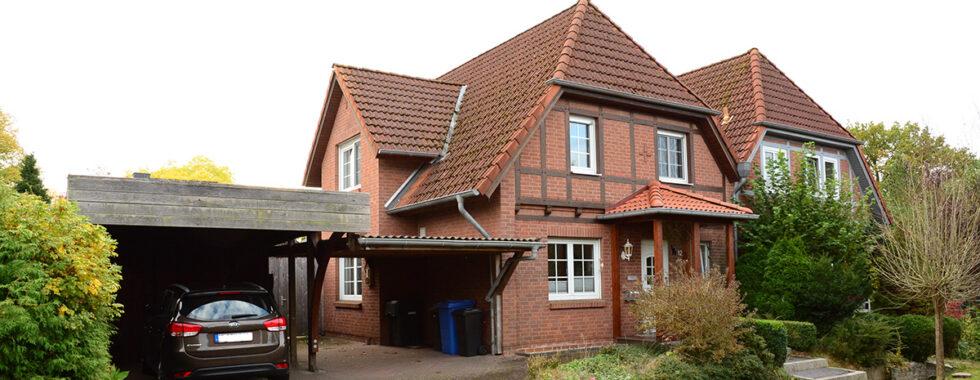 Verkauft: DHH mit Wintergarten, Kamin  und Carport in Stelle-Ashausen